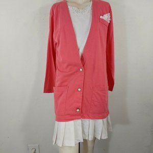 vintage JY designs 80's dress size medium pink